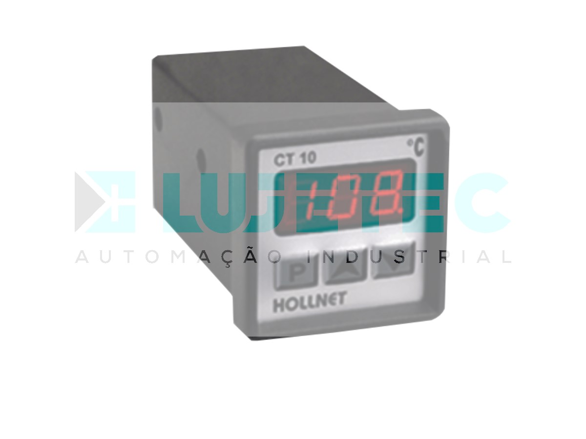 CONTROLADOR TEMPERATURA DIGITAL CT10 -30 A 969ºC PT100 220VCA 60HZ