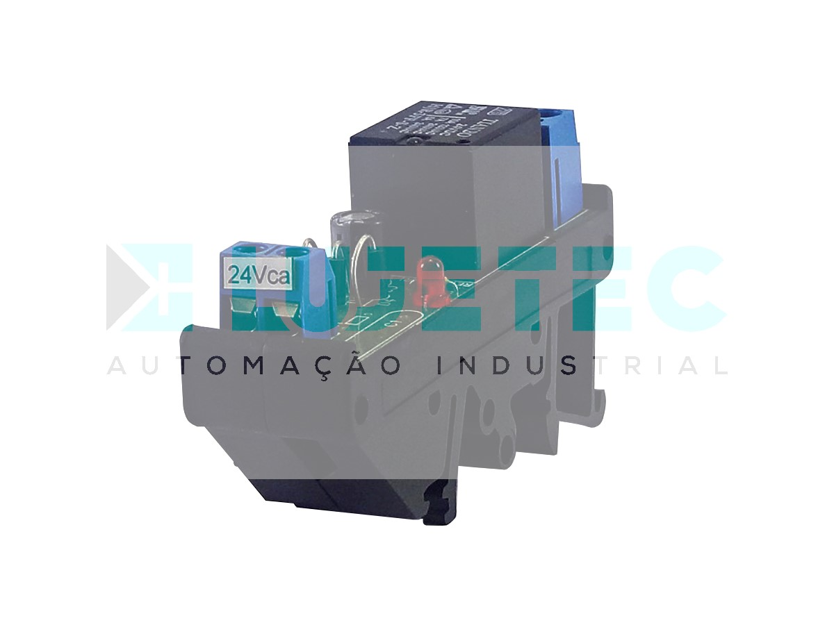INTERFACE A RELE SIMPLES NA+NF 24VCA 5A 20MM