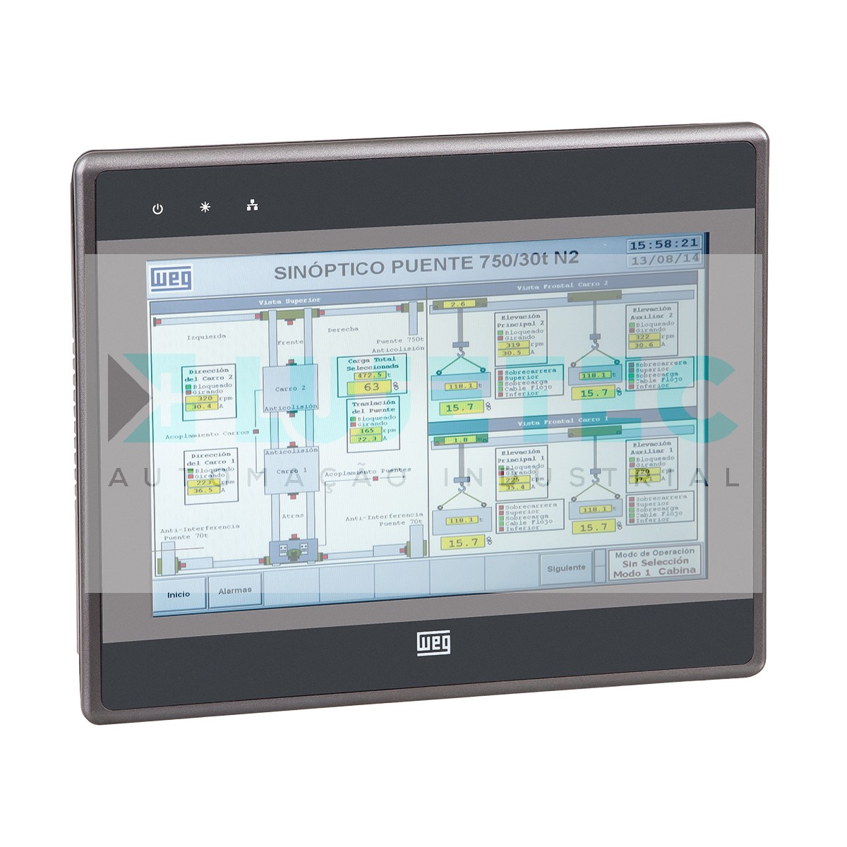 IHM MT6070IP TOUCH 7'' COLORIDA COMUNICACAO RS232/485